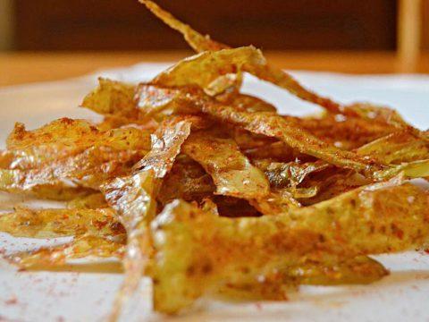 Chips de casca de batata