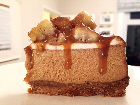 Cheesecake de doce de leite com banana camarelizada