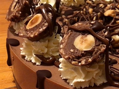 Cheesecake de Nutella e Ferrero Rocher